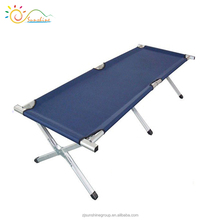 Aluminum beach bed metal folfing bed military metal bed frame