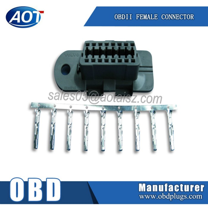HOT SELLING Shenzhen OBD2 Volvo Female Connector