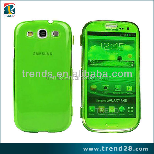 ultra thin transparent flip tpu cover case for samsung galaxy s3 i9300