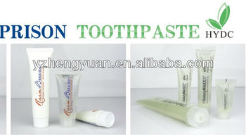 prison toothpaste clear gel toothgel FDA toothpaste