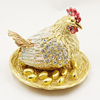 2017 Special Design Chicken Souvenir Money Drawing Gifts Animal Biddy Trinket Box Pewter Casket Magnet Figurine Metal Crafts