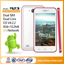 M23 4 inch 3G GPS Dual Sim Cheap Android 4.2 Smart Phone