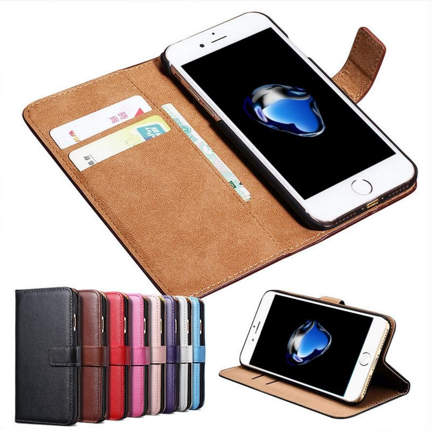 Retro Real leather mobile phone case for iPhone 7 wallet 2 card holder flip cover case mobile phone, leather wallet case