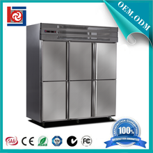 restaurant fridge Double temperature six door upright freezer