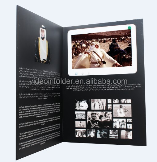 "India cheap price hot sex avi hd lcd video brochure presentation card touch screen 10"" digital lcd video brochure card with WIFI"