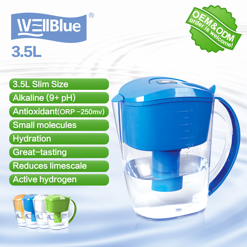 Wellblue manufacturer portable water ionizer pitcher