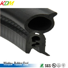EPDM Water Seal Rubber Strip/Rubber Edge Protection with Meatal Metal Sheet Seal Strip for Car Door and Window