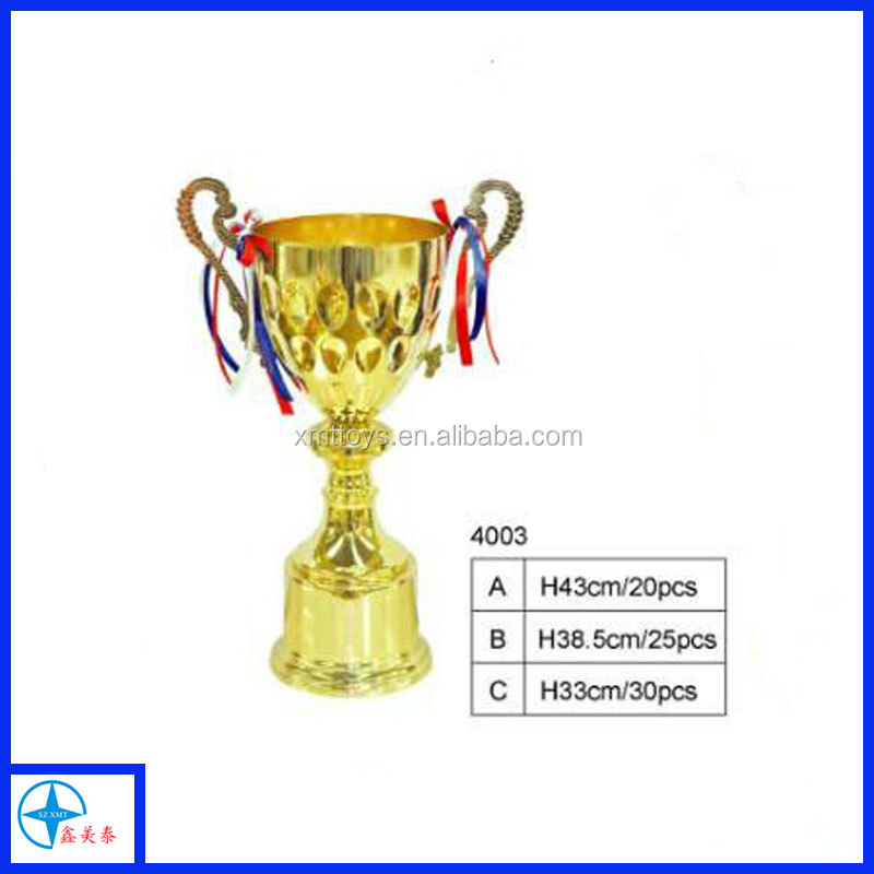 Gold Cup Trophy in 3 Sizes with FREE Engraving up to 30 Letters + Ribbons
