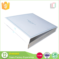 DL020074 Wholesale Fashion high quality large matte white gift box with magnetic lid