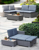 Modern comfortable outdoor wicker rattan sofa set sofa furniture 4pcs/set