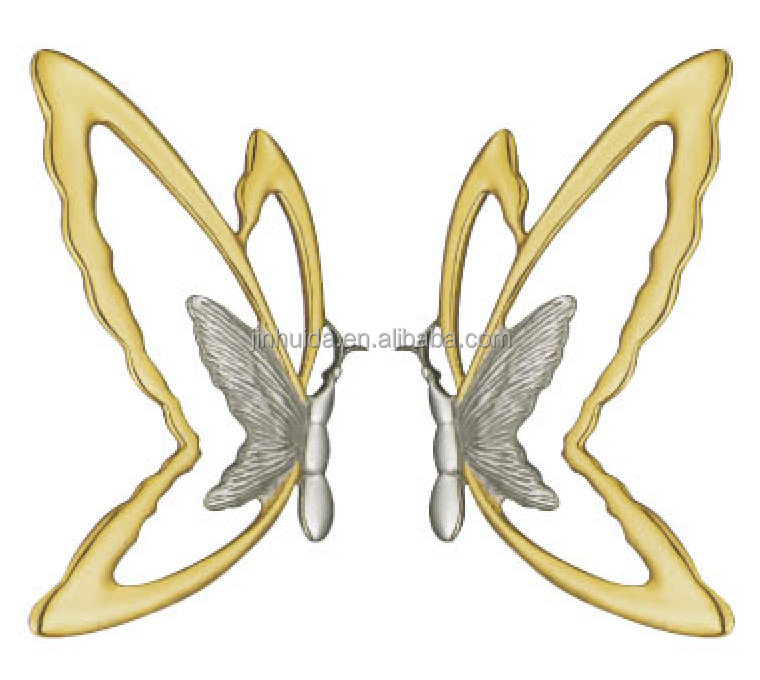 JHD-8004 butterfly design front door handles and locks