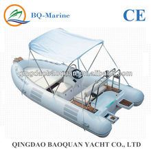 Good quality & Low price RIB480D Fiberglass hull inflatable fishing boat