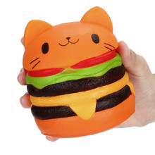 New Novelty Squishy Slow Rising Squeeze Cat Hamburger Bread Toy for Collection Gift