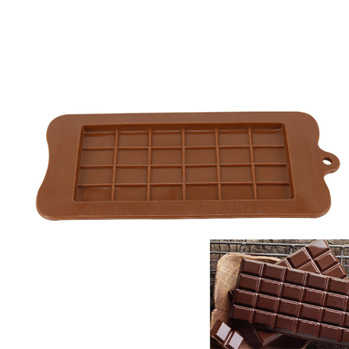 BPA Free Oven Safe cheap 24 bar square unique silicone Chocolate Mold
