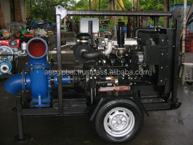 Water Pump attached Diesel Perkins Engine / towing mobile