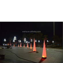 colorful LED lighting decorative inflatable cone /event/catering/outdoor decoration