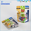Wholesale Plastic Stand Up Ziplock Packing Pouch Standup Bag With Window