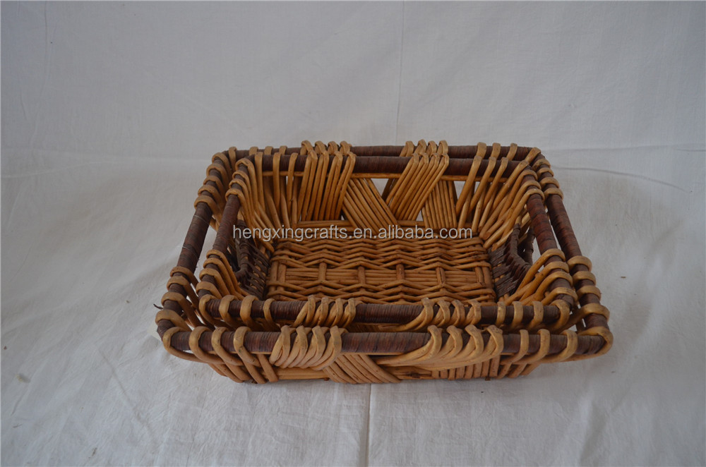 Traditional Ractangle Food Storage Wicker Basket
