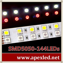 RGBW led strip high intensity led ribbon light with two lines SMD 5050-144led per meter