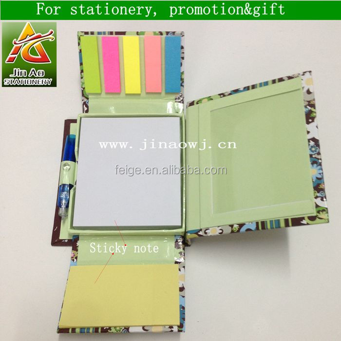 paper sticky memo box with pads