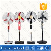 Factory supply 12V AC DC rechargeable stand fan 16 inch with USB outlet