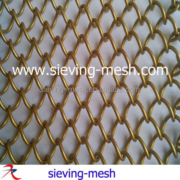 Decorative Metal Wire Mesh Drapery Curtain For Office Partition
