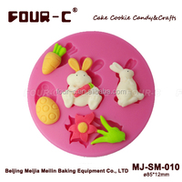 High quality rabbit silicone sugarcraft mould,sugarpaste and fondant mould