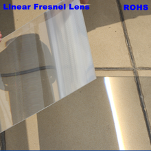 Large Big Size 1100*1100mm Plastic Linear Fresnel Lens 3mm Thickness Solar Concentrator Aspheric Plano Price