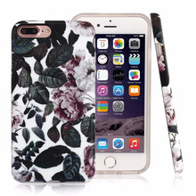 new smart phone cover nice leaf design full cover for phone 7 , 2017 raised edge pretty fashion phone case for iphone7 plus
