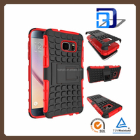 New design armor kickstand shockproof mobile accessories case for samsung galaxy s7 case