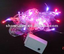 40 LED Chasing String Christmas Lights Red and Purple