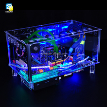PC-D779X Colorful Horizontal Desktop ATX Transparent Gaming Acrylic Computer Case