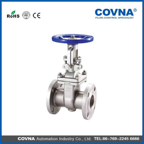 SS304/316 class 150 Rising Stem manual DIN Flange Gate Valve with low price