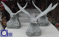 natural blue stone large eagle statues