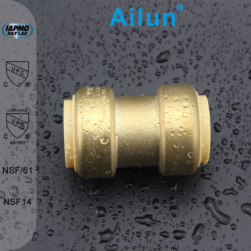 brass price per kg lead free brass push fit fitting with Tee, 1-Inch made in china