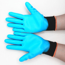 EN 388 Nylon Liner Or Polyester Liner Coated Latex Safety Gloves