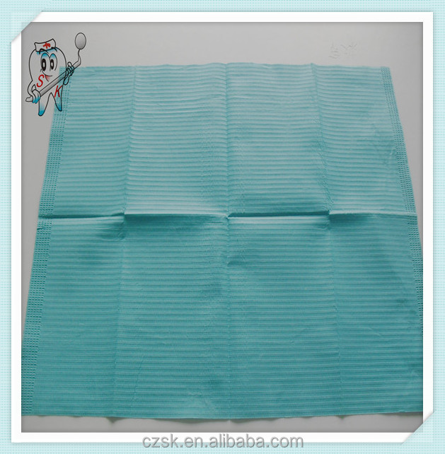 Have won fame both at home and abroad china factory price medical blue dental bibs