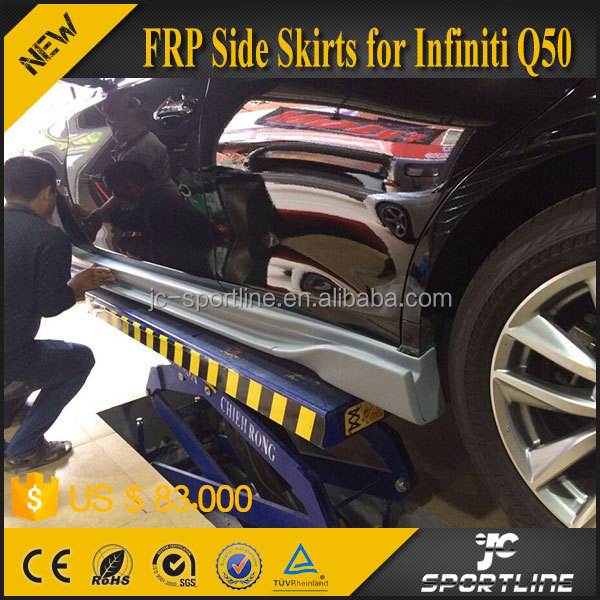 JC Sportline FRP Fiberglass Q50 Side Skirts Body Kit for Infiniti Q50