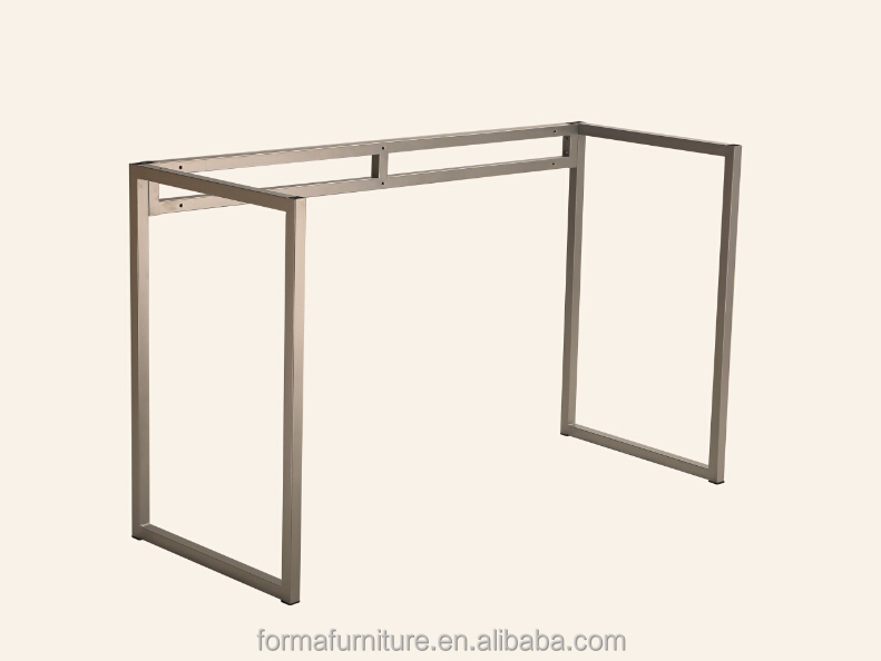 office knock down desk frame powder coating grey color metal table legs 10016P4