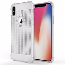 Breathable Anti-fingerprints Soft TPU Shell Shock-Absorption Bumper Air Cushioned 4 Corners Mobile Phone Case For iPhone X Case