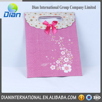 Fashion slogan paper bag with high quality