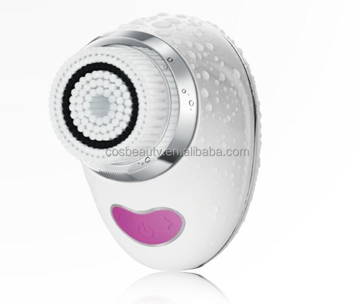 CB-012 CosBeauty Manufacturer Wireless Charging Design Rechargeable Sonic Mini Pore Facial Sonic Cleansing Brush