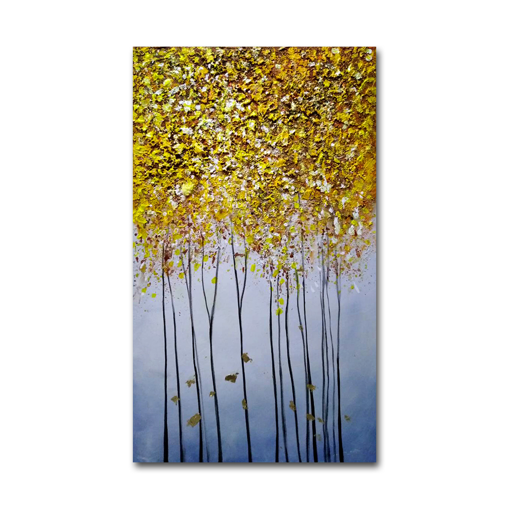Wall Hanging Home Decoration Canvas Art Gold Leaf Abstract Modern Painting