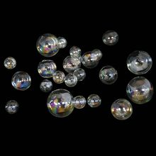 Home & jewelry Decor Gifts lampworking small christmas round colorful decorative clear glass balls with holes open