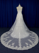 See through ruched neckline guipure lace wedding dress country style