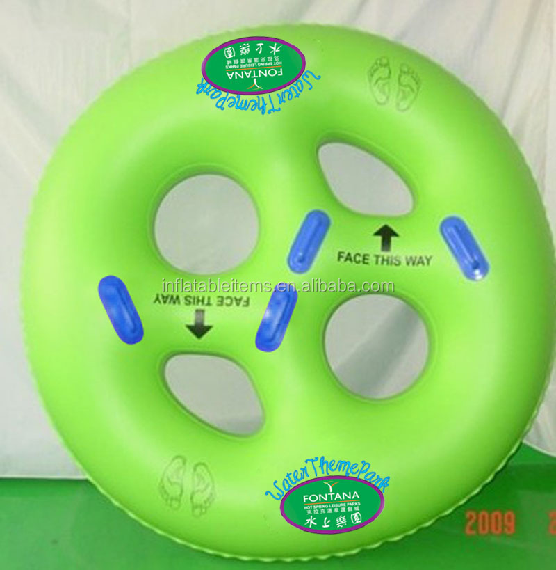 inflatable 4 person round water tube for play game