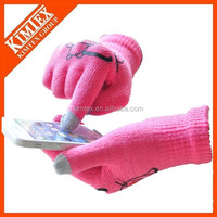 Wholesale winter custom knitted smartphone gloves
