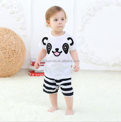 New style boys pants and t-shirt boys design printing combination baby suit