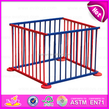 2015 Colorful popular wooden playpen for baby,Portable wooden baby square playpen,Safety Care wooden baby safety fence W08H011