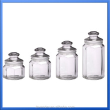 promotional storage clear glass jars with hat shape lids